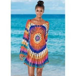 Other - 🆕 MULTICOLORED CROCHET COVERUP